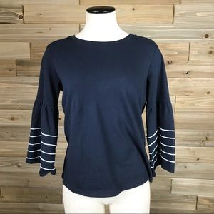 J.crew navy Bell sleeve top sz XS